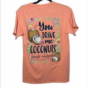 Simply southern you drive me coconuts T-shirt